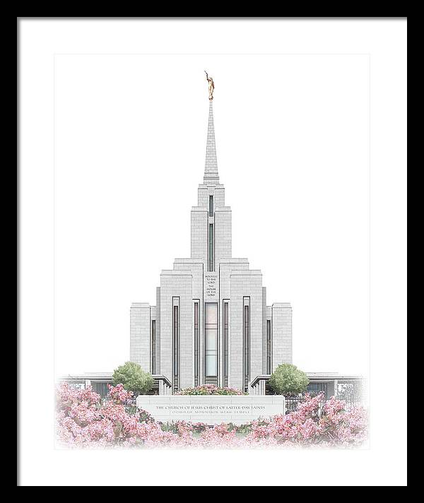 Oquirrh Framed Print featuring the digital art Oquirrh Mountain Temple - Celestial Series by Brent Borup