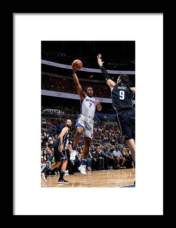 Nba Pro Basketball Framed Print featuring the photograph Orlando Johnson by Fernando Medina