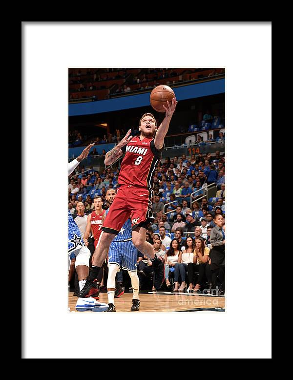 Nba Pro Basketball Framed Print featuring the photograph Orlando Johnson by Gary Bassing
