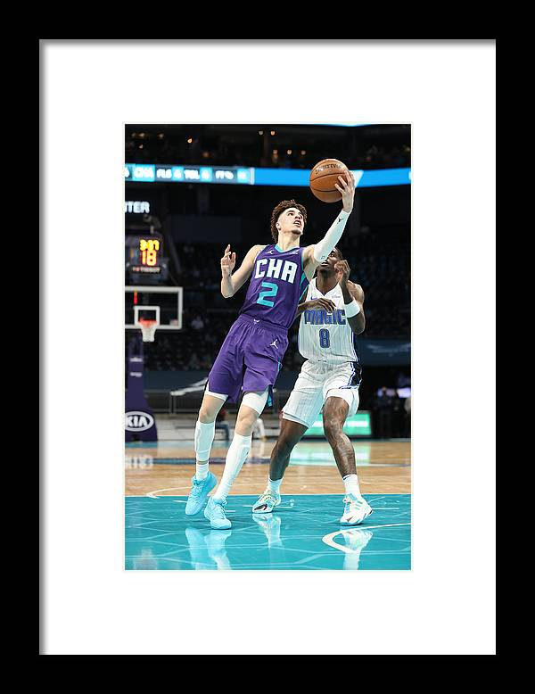 Nba Pro Basketball Framed Print featuring the photograph Orlando Magic v Charlotte Hornets by Brock Williams-Smith