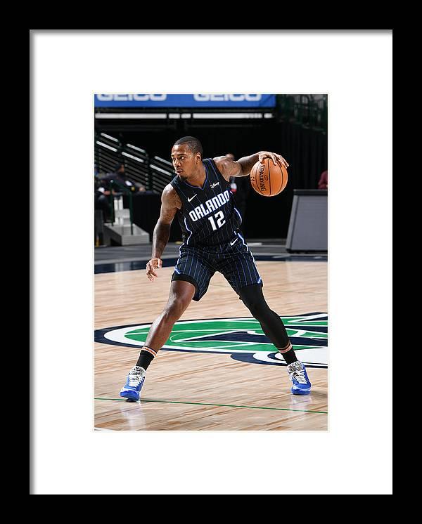 Nba Pro Basketball Framed Print featuring the photograph Orlando Magic v Dallas Mavericks by Glenn James