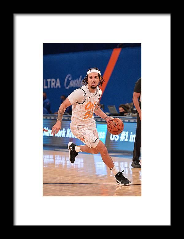 Nba Pro Basketball Framed Print featuring the photograph Orlando Magic v New York Knicks by David Dow