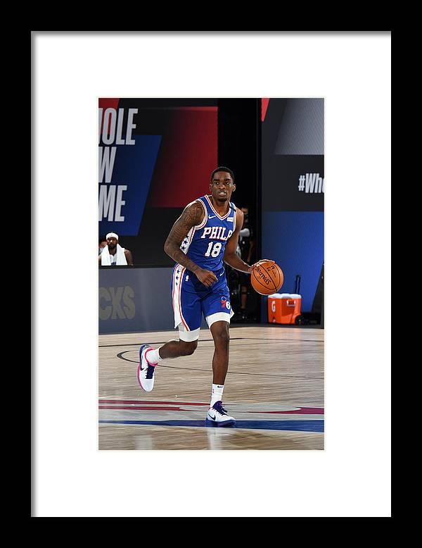 Nba Pro Basketball Framed Print featuring the photograph Orlando Magic v Philadelphia 76ers by Jesse D. Garrabrant