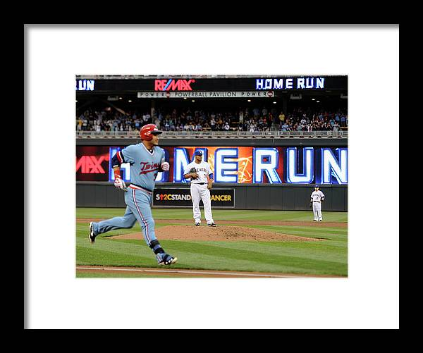 Oswaldo Arcia Framed Print featuring the photograph Oswaldo Arcia and Wily Peralta by Hannah Foslien