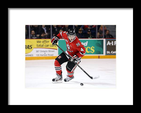 People Framed Print featuring the photograph Ottawa 67s v Niagara IceDogs - Game Six by Vaughn Ridley