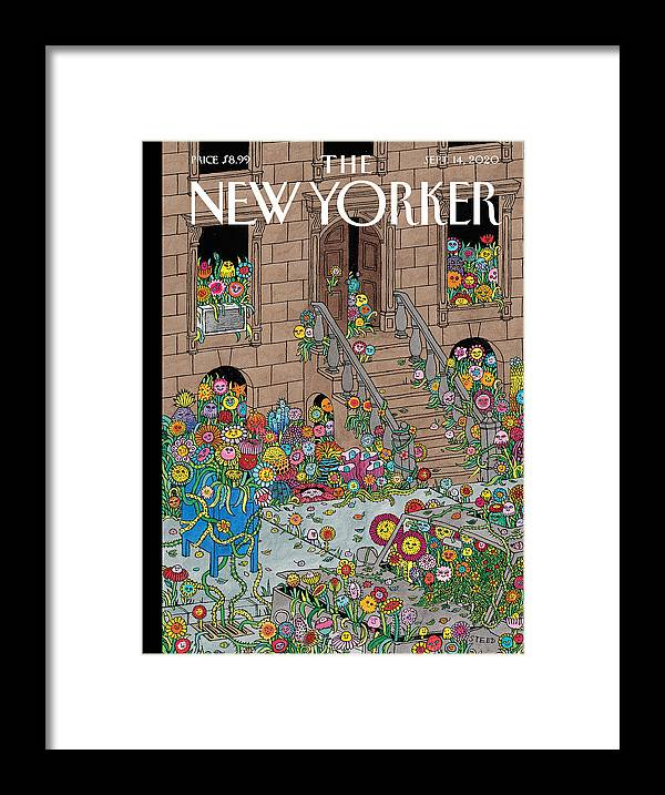 New York Framed Print featuring the painting Overgrown by Edward Steed