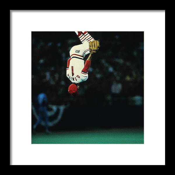 St. Louis Cardinals Framed Print featuring the photograph Ozzie Smith by Ronald C. Modra/sports Imagery