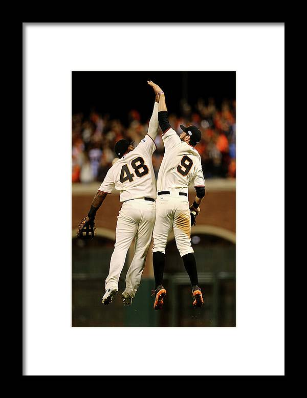 San Francisco Framed Print featuring the photograph Pablo Sandoval and Brandon Belt by Elsa