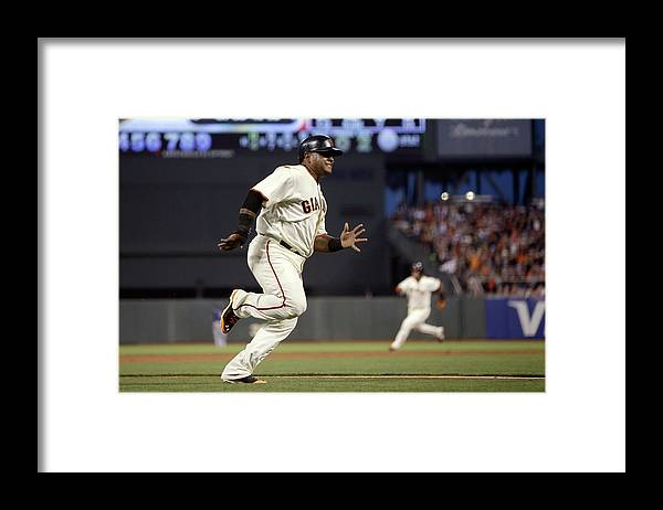 San Francisco Framed Print featuring the photograph Pablo Sandoval and Brandon Crawford by Ezra Shaw