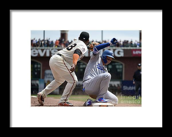 San Francisco Framed Print featuring the photograph Pablo Sandoval and Joc Pederson by Thearon W. Henderson