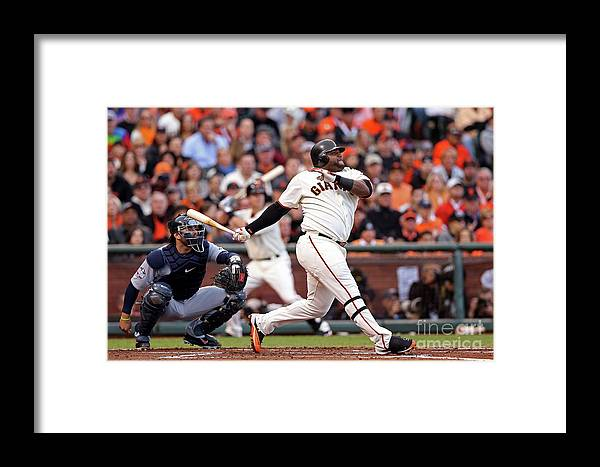 San Francisco Framed Print featuring the photograph Pablo Sandoval And Justin Verlander by Christian Petersen