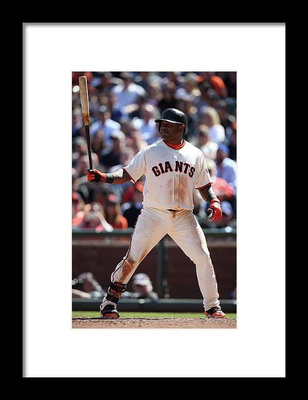 San Francisco Framed Print featuring the photograph Pablo Sandoval by Brad Mangin