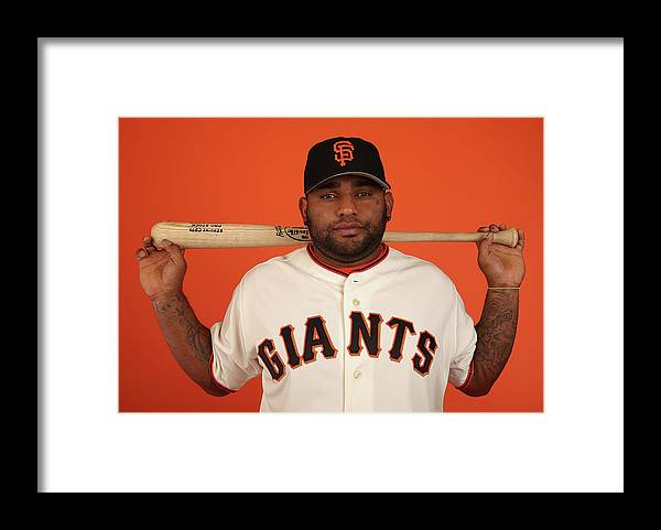 Media Day Framed Print featuring the photograph Pablo Sandoval by Christian Petersen