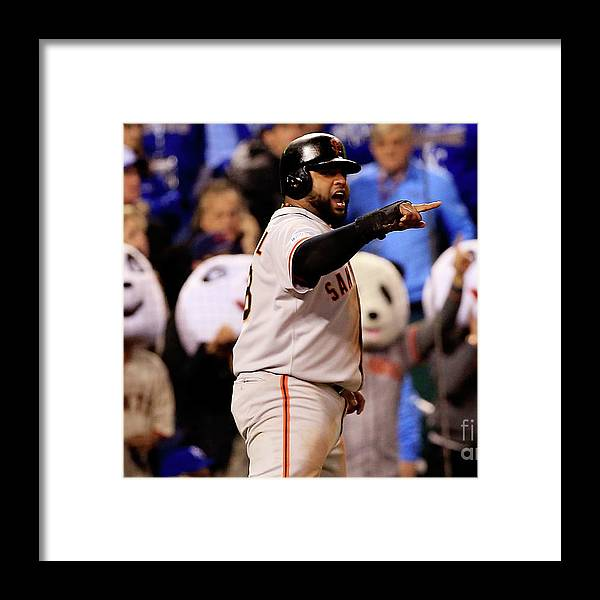 People Framed Print featuring the photograph Pablo Sandoval by Jamie Squire