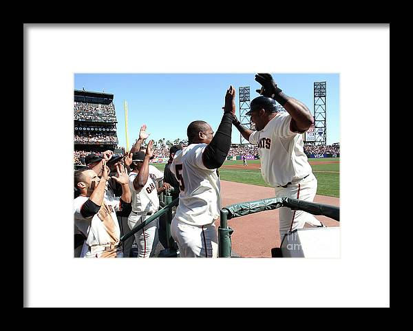 People Framed Print featuring the photograph Pablo Sandoval by Jed Jacobsohn