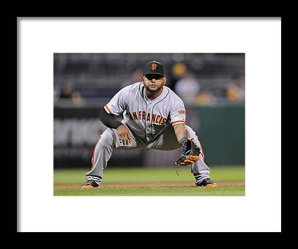 Pnc Park Framed Print featuring the photograph Pablo Sandoval by Joe Sargent