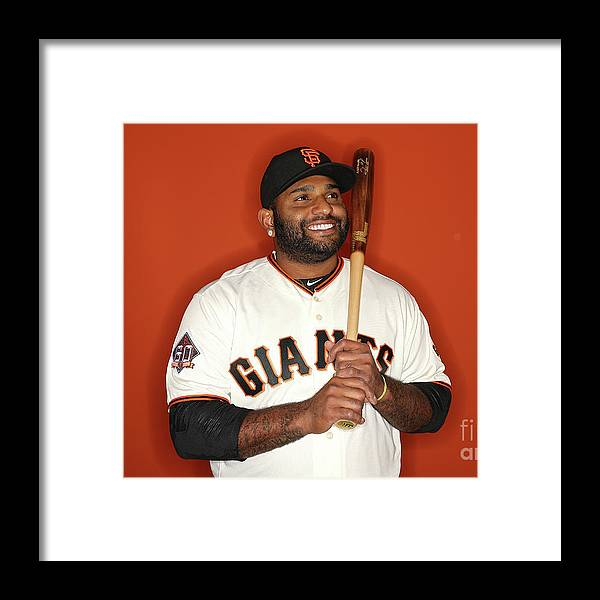 Media Day Framed Print featuring the photograph Pablo Sandoval by Patrick Smith