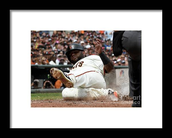 San Francisco Framed Print featuring the photograph Pablo Sandoval by Thearon W. Henderson