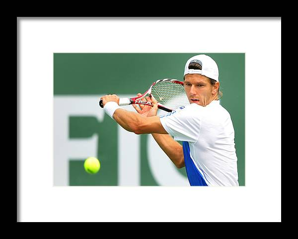 Tennis Framed Print featuring the photograph Pacific Life Open Day 7 by Matthew Stockman