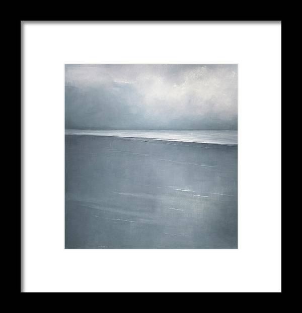 Framed Print featuring the painting Pale Indigo by Mary Jo Van Dell