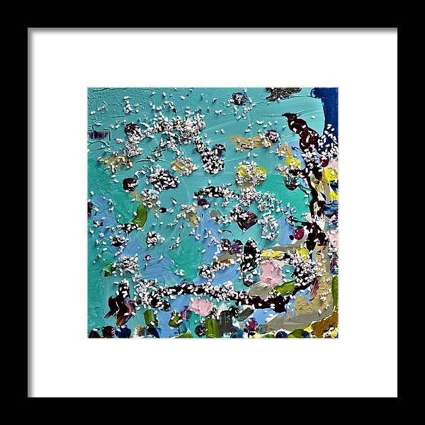 Blue Framed Print featuring the painting Party Time by Pam Roth O'Mara