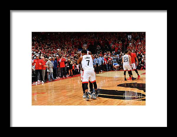 Nba Pro Basketball Framed Print featuring the photograph Pascal Siakam and Kyle Lowry by Jesse D. Garrabrant