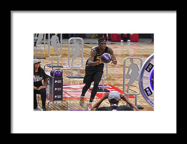 Nba Pro Basketball Framed Print featuring the photograph Pascal Siakam by Bill Baptist