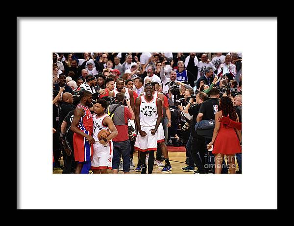 Playoffs Framed Print featuring the photograph Pascal Siakam by David Dow