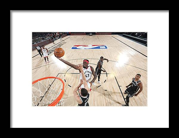 Playoffs Framed Print featuring the photograph Pascal Siakam by David Sherman