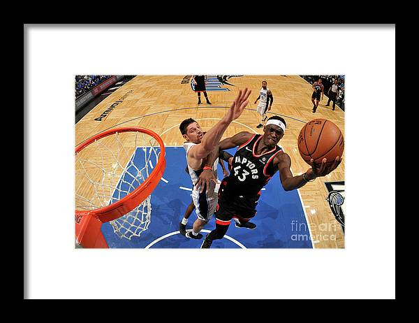 Playoffs Framed Print featuring the photograph Pascal Siakam by Fernando Medina