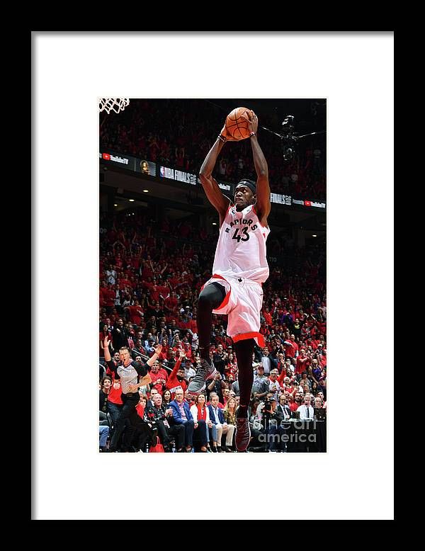 Playoffs Framed Print featuring the photograph Pascal Siakam by Jesse D. Garrabrant