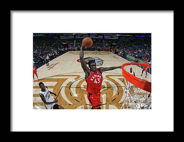 Smoothie King Center Framed Print featuring the photograph Pascal Siakam by Layne Murdoch Jr.