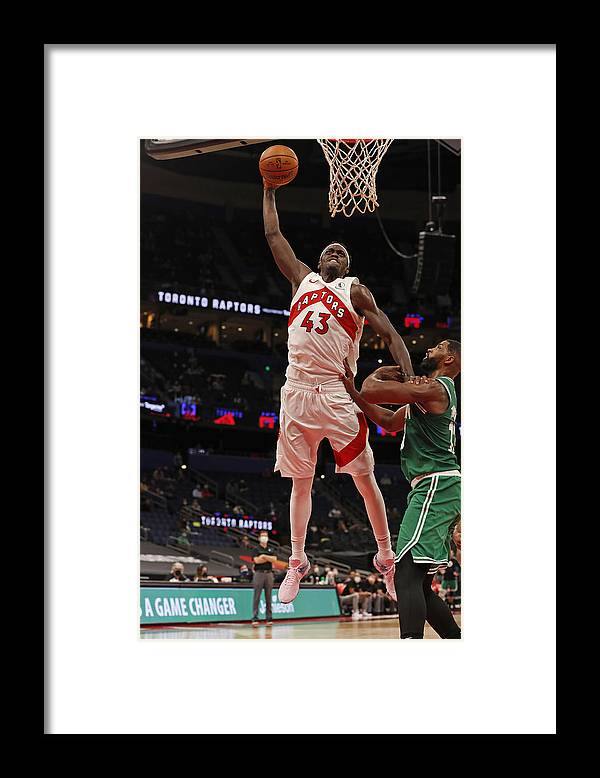 Nba Pro Basketball Framed Print featuring the photograph Pascal Siakam by Scott Audette