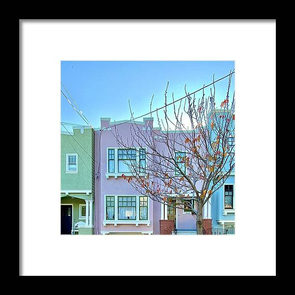 Framed Print featuring the photograph Pastel Houses by Julie Gebhardt
