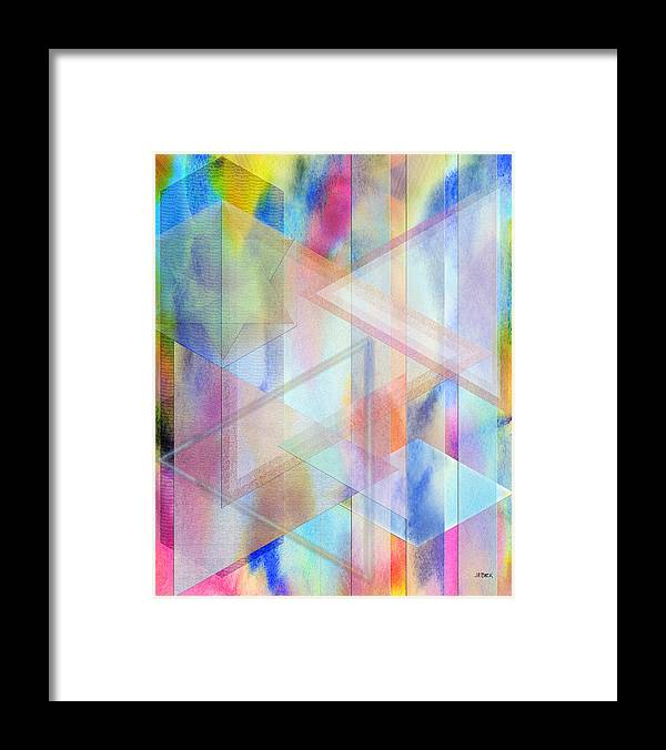Pastoral Moment Framed Print featuring the digital art Pastoral Moment by John Robert Beck
