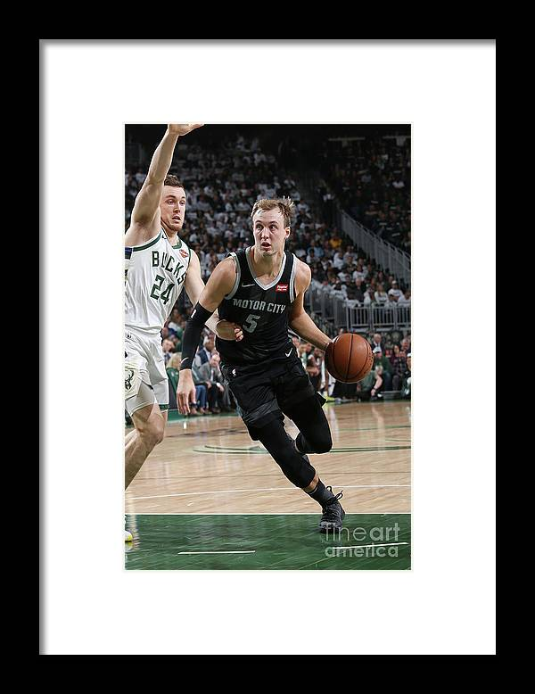 Playoffs Framed Print featuring the photograph Pat Connaughton and Luke Kennard by Gary Dineen