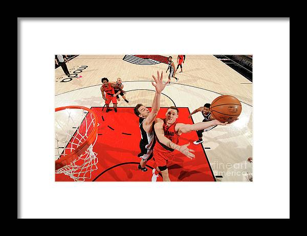 Nba Pro Basketball Framed Print featuring the photograph Pat Connaughton by Cameron Browne