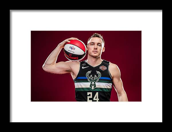 Nba Pro Basketball Framed Print featuring the photograph Pat Connaughton by Michael J. LeBrecht II