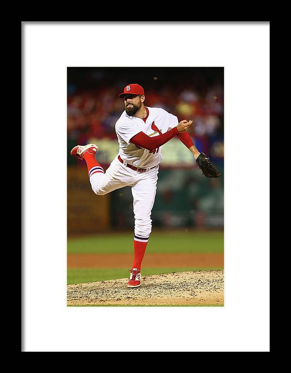 St. Louis Cardinals Framed Print featuring the photograph Pat Neshek by Dilip Vishwanat