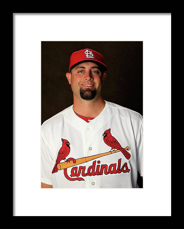 Media Day Framed Print featuring the photograph Pat Neshek by Rob Carr