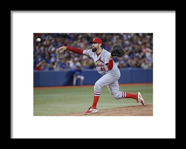 St. Louis Cardinals Framed Print featuring the photograph Pat Neshek by Tom Szczerbowski