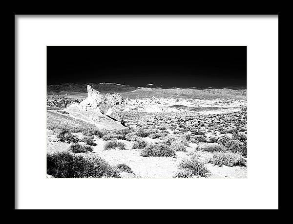 Path Through The Desert Framed Print featuring the photograph Path Through the Desert Infrared at the Valley of Fire by John Rizzuto