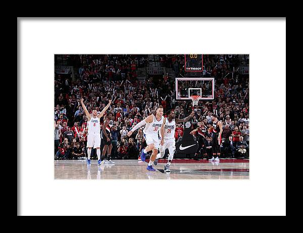 Nba Pro Basketball Framed Print featuring the photograph Patrick Beverley and Blake Griffin by Sam Forencich