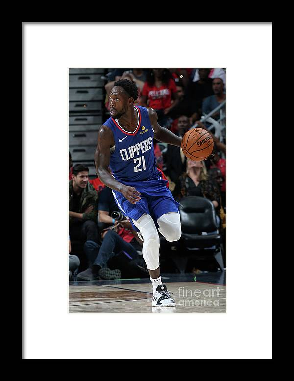 Smoothie King Center Framed Print featuring the photograph Patrick Beverley by Layne Murdoch Jr.