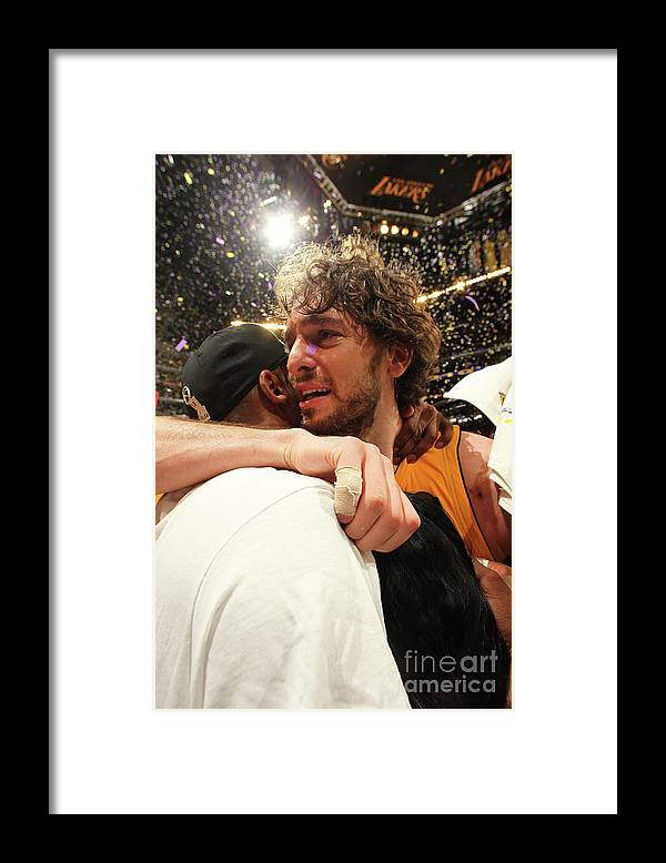 Playoffs Framed Print featuring the photograph Pau Gasol and Kobe Bryant by Nathaniel S. Butler