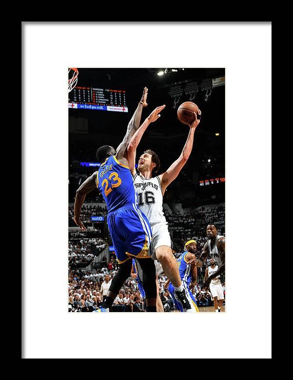 Playoffs Framed Print featuring the photograph Pau Gasol by Jesse D. Garrabrant