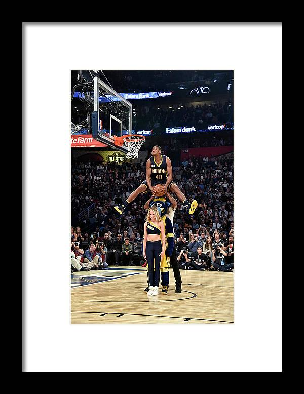 Event Framed Print featuring the photograph Paul George and Glenn Robinson by Bill Baptist