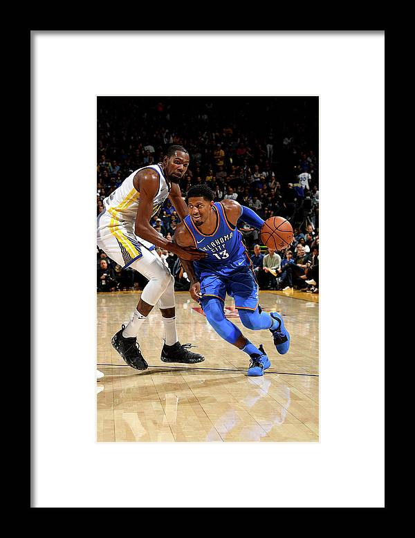 Nba Pro Basketball Framed Print featuring the photograph Paul George and Kevin Durant by Noah Graham