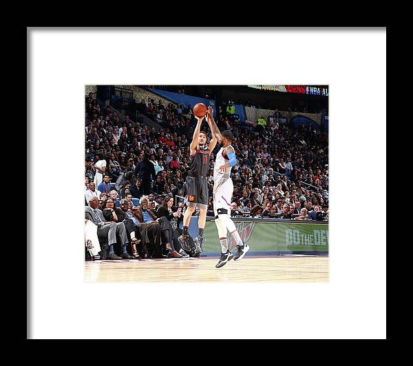 Event Framed Print featuring the photograph Paul George and Klay Thompson by Nathaniel S. Butler