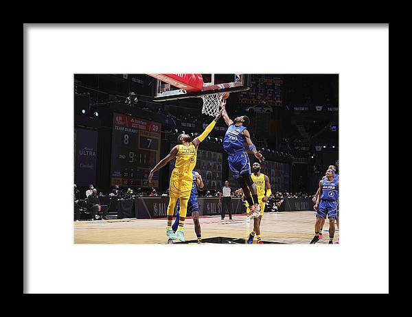 Atlanta Framed Print featuring the photograph Paul George and Kyrie Irving by Nathaniel S. Butler